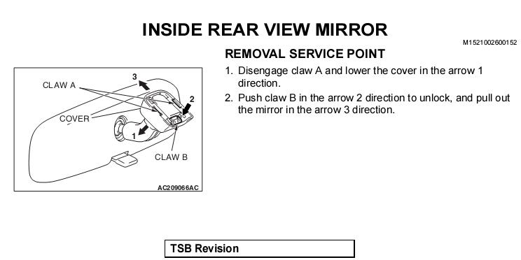 mirrorremoval how to install an autodimming mirror evolutionm mitsubishi Lift Master Wiring Schematic at gsmportal.co